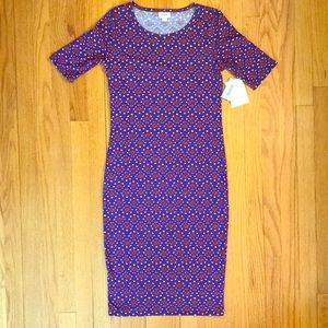 NWT LuLaRoe Julia Pattern Print Dress. Size XS